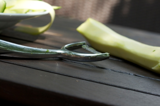 "Zucchini ""Noodles"" with a Y Peeler"